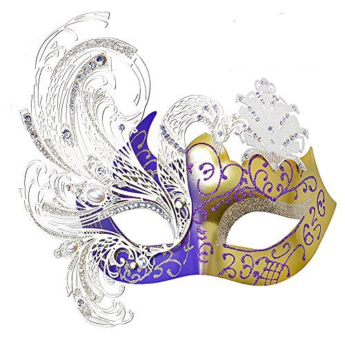 Geek-M Metal Laser Cut Masquerade Venetian Party Mask