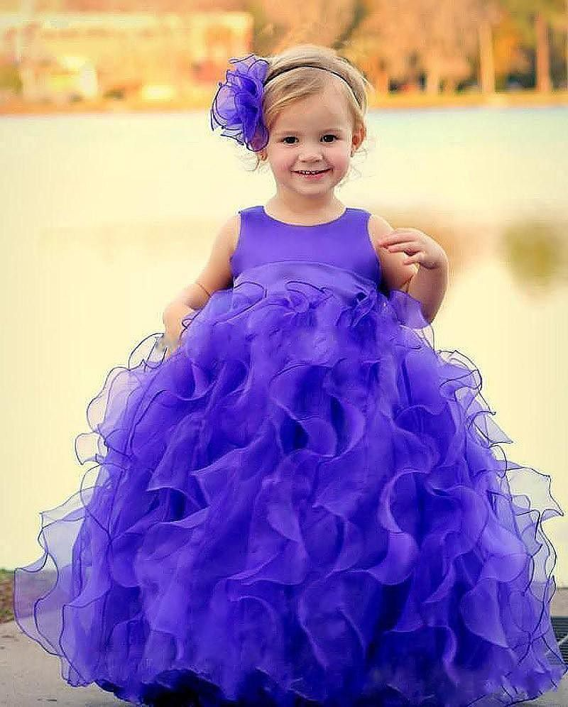 Click to Buy << Cute Tutu Ball Gown Kids Toddler Pageant Dresses ...