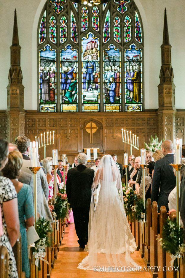 Wedding ceremony St Andrews Covenant Church Wilmington