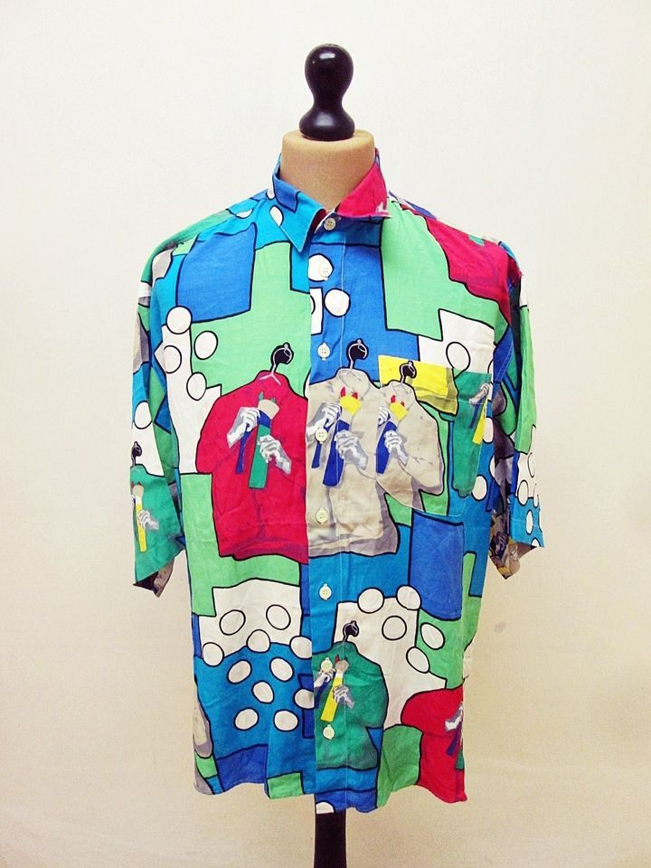 Vintage 90s Crazy Pattern Fresh Prince Shirt XL | style  in