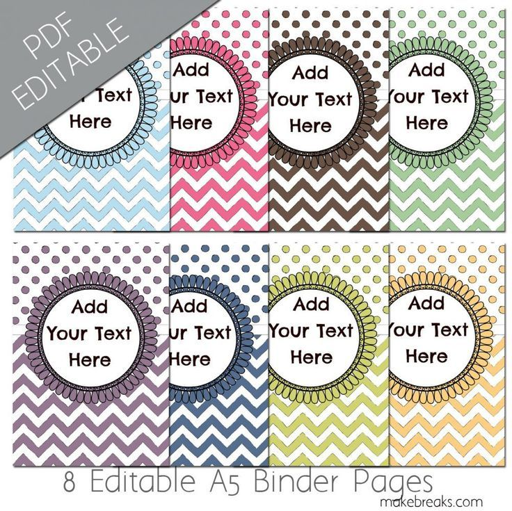 Free A5 Planner Dividers With Chevron Pattern is part of Planner dividers, Printable planner, A5 planner, Filofax planners, Editable planner, Planner inserts printable - Free printable a5 planner dividers for Filofax or similar planners  Check out our other free planner and journal freebies