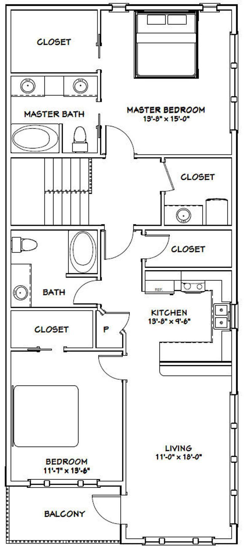 60x50 House 2 Bedroom 5 Bath 1