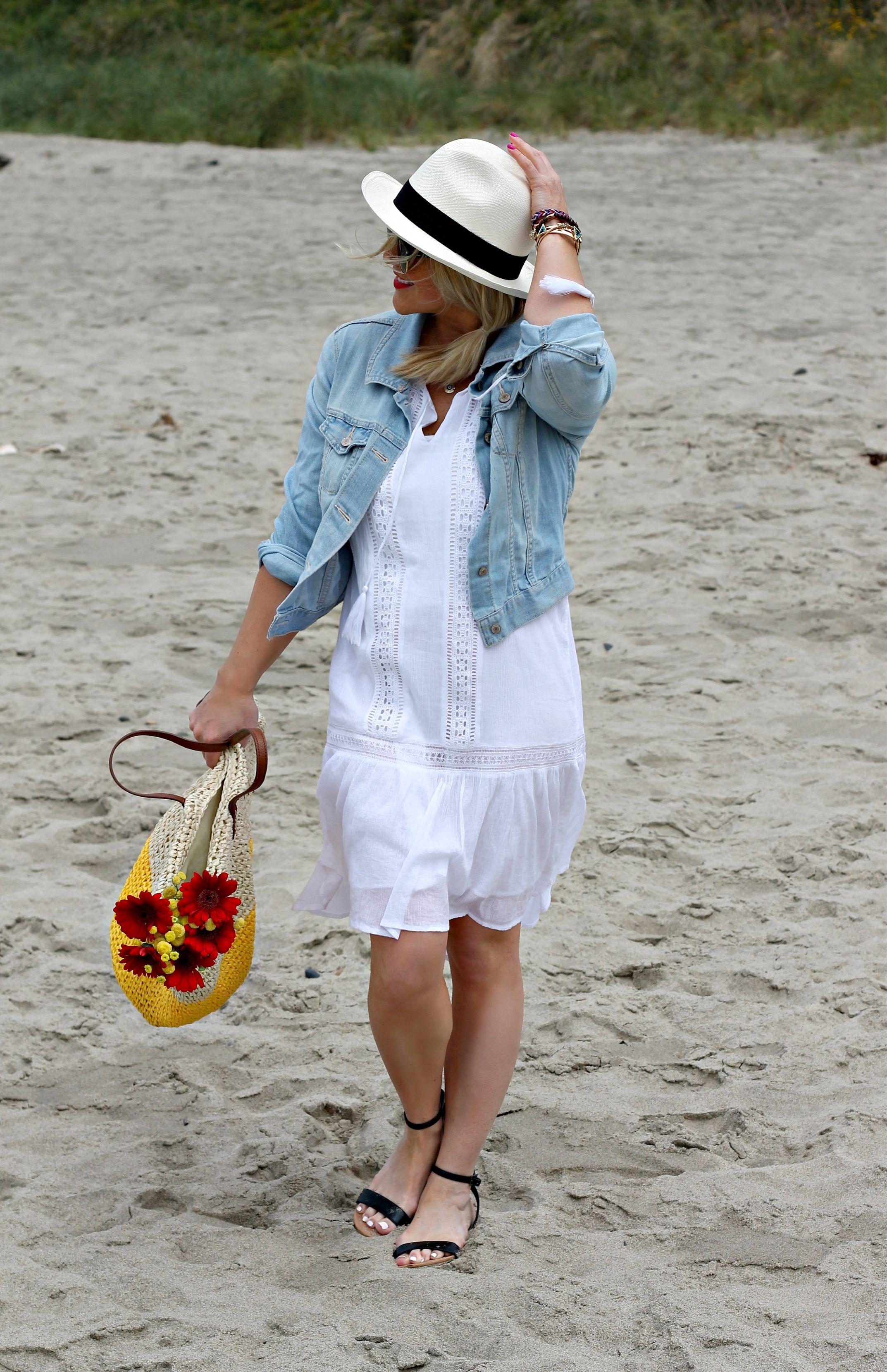 Summer beach dress white uniform