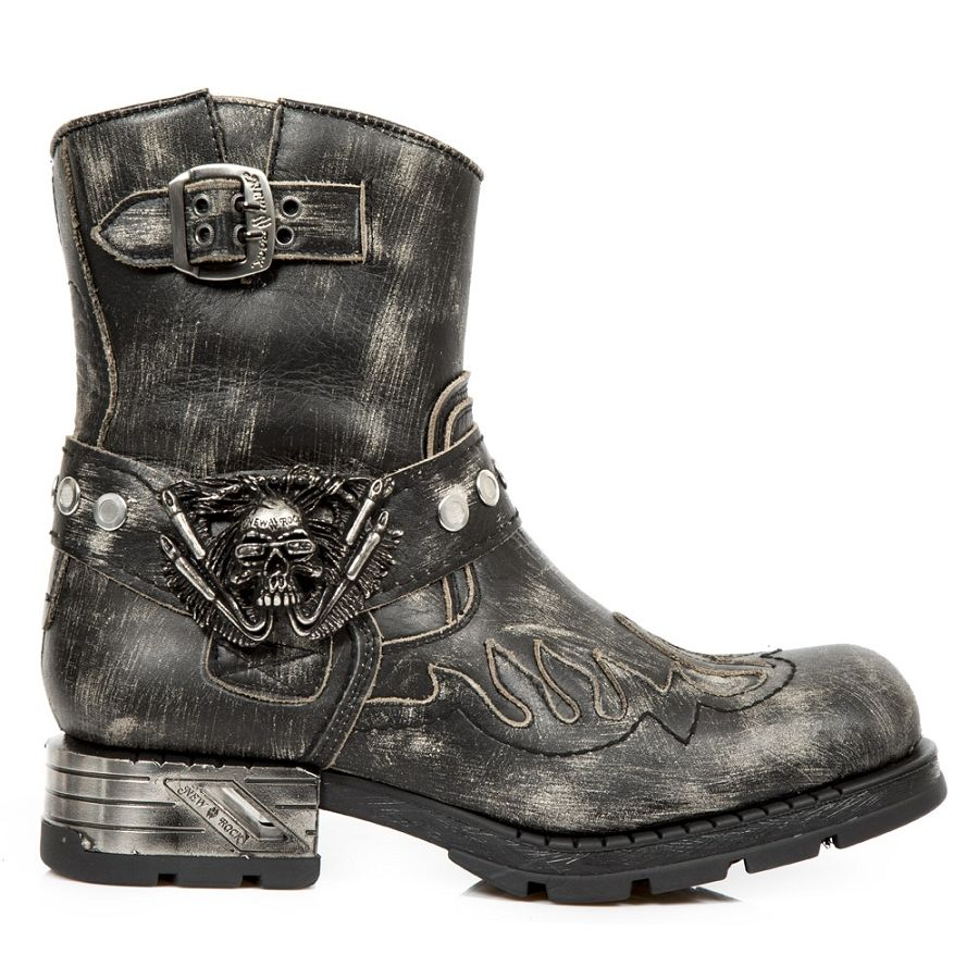 5e35de6744a Grey Python Pattern Motorcycle Boots w Flames *May take up to 65 ...