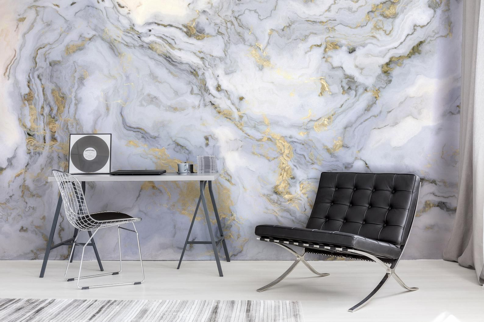 Marble Wallpaper Peel And Stick Marble Wall Mural Marble Etsy Marble Wallpaper Gold Wallpaper Living Room Marble Wall Mural