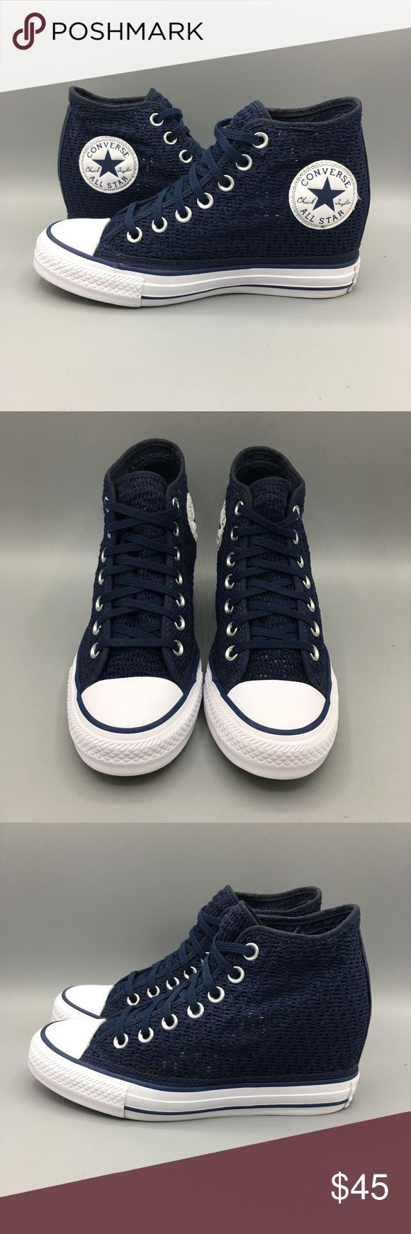 Converse lux mid dress blue wedge sneakers Converse 552696c lux mid dress blue w... Converse lux mid dress blue wedge sneakers Converse 552696c lux mid dress blue w... Sneakers 👟