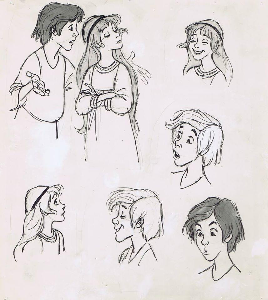 "Disneys ""The Black Cauldron"" concept art.  Dessins main, Dessin"