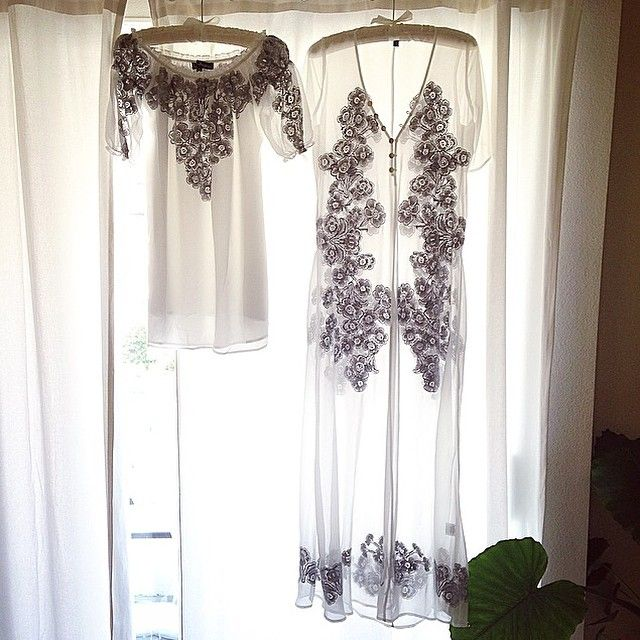 Dreamy and romantic embroidered silhouettes from our Fall 15 collection ✨✨ #sicilyminidress #sicilymaxidress #forloveandlemons #newarrivals