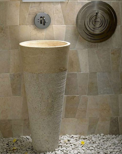 Captivating A Luxury Marble Stone Bathroom Pedestal Sink Made From A White Cream  Polished Marble Standing At 90 Cm This Stone Sink Adds Something Special To  Any