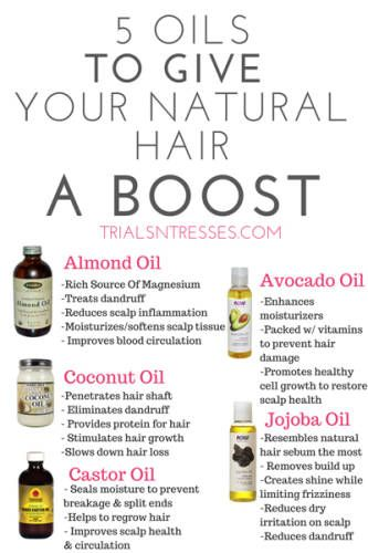 5 Oils To Help Grow Your Natural Hair