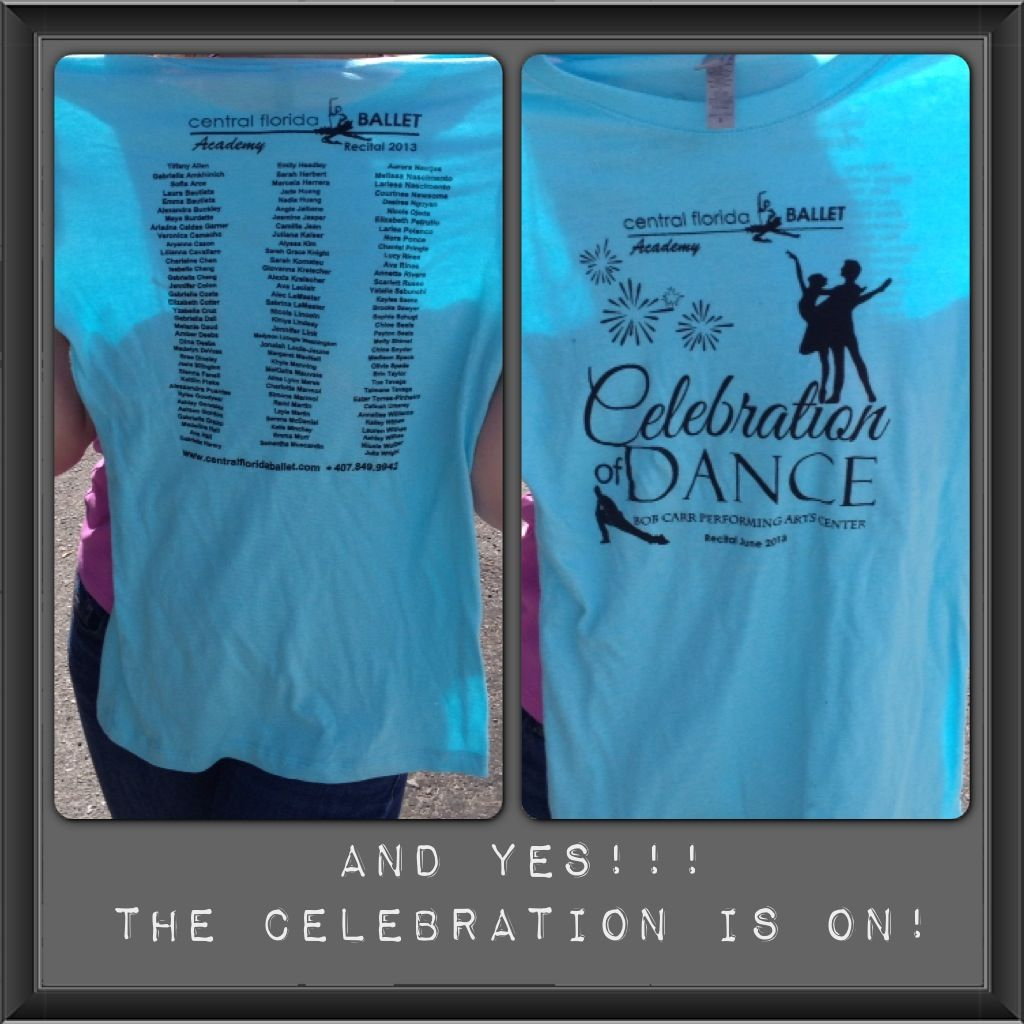 Screen Printed Tshirts, for ballet recital 2013