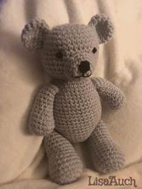 FREE Crochet Pattern for a Cute Teddy Bear #crochetbear