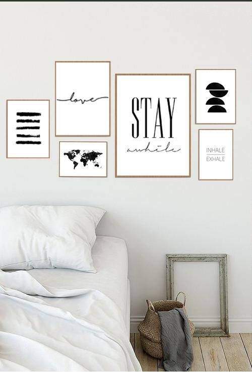 This Gallery Wall Is A Modern And Trendy Art You Can Download From Etsy Print Yourself Or Send Them Wall Decor Printables Gallery Wall Set Gallery Wall Prints