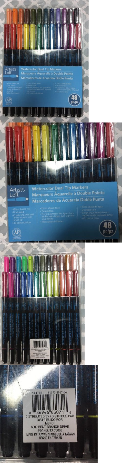 Craft Markers And Pens 11790 Artist S Loft Watercolor Dual Tip