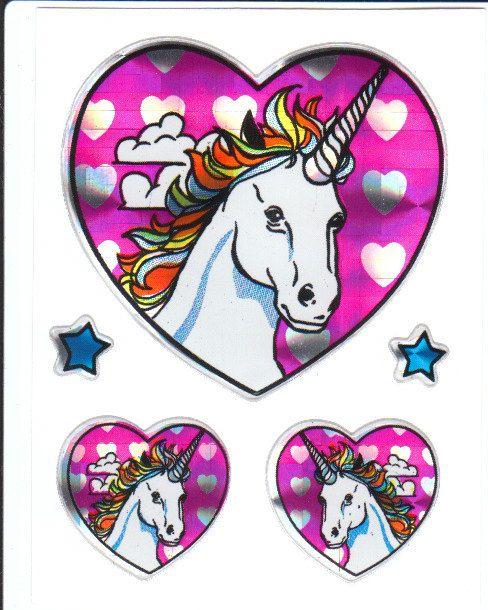 Vintage unicorn stickers fabulous prismatic vintage unicorn sticker sheet