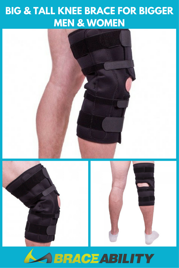 48a739b9c9 Are you struggling to find a brace that is wide enough for your knee? We  want to help! Our extra large knee brace has an easily applied wrap around  design, ...