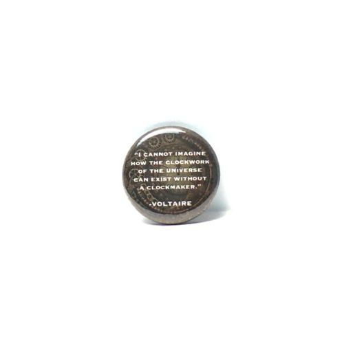 1-034-Pinback-Button-Voltaire-Quote-Clockwork-of-the-Universe-Pin-Philosophy