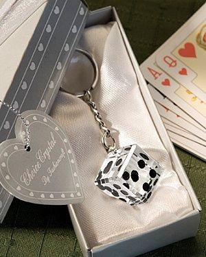 Photo of Crystal Roll The Dice Casino Themed Favor Keychains