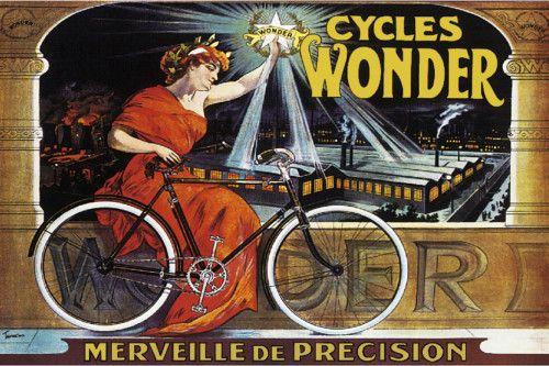 Vintage Wonder Cycle POSTER.Home Interior Design.Room Decor.Art Nouveau.226