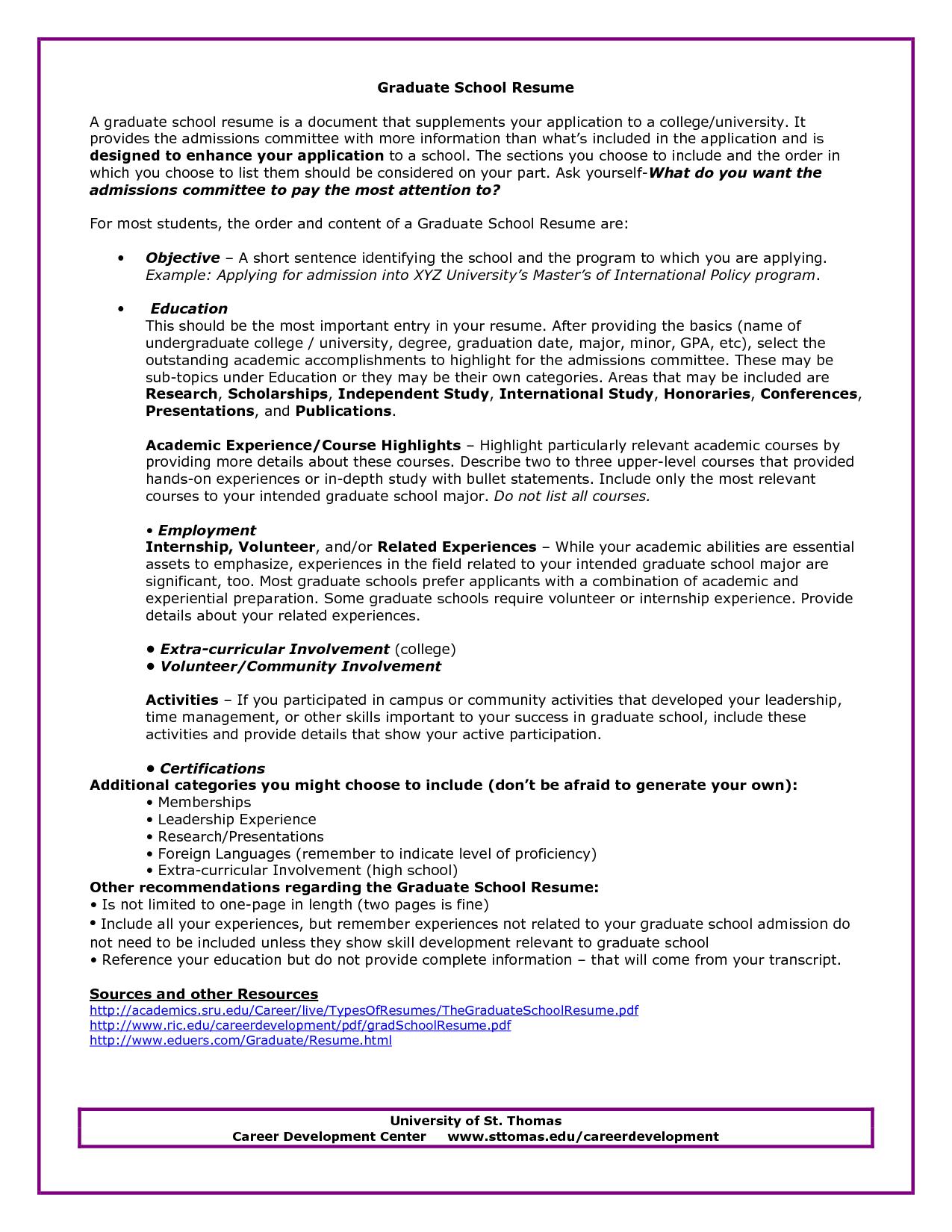 Sample Resume Undergraduate Education