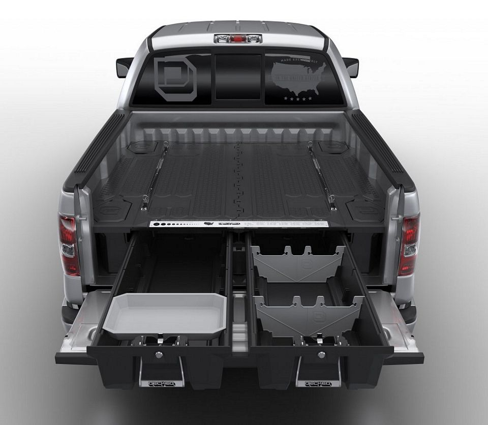 Decked Adds Drawers To Your Pickup Truck Bed For Maximizing Storage Space Truck Bed Storage Decked Truck Bed Truck Bed