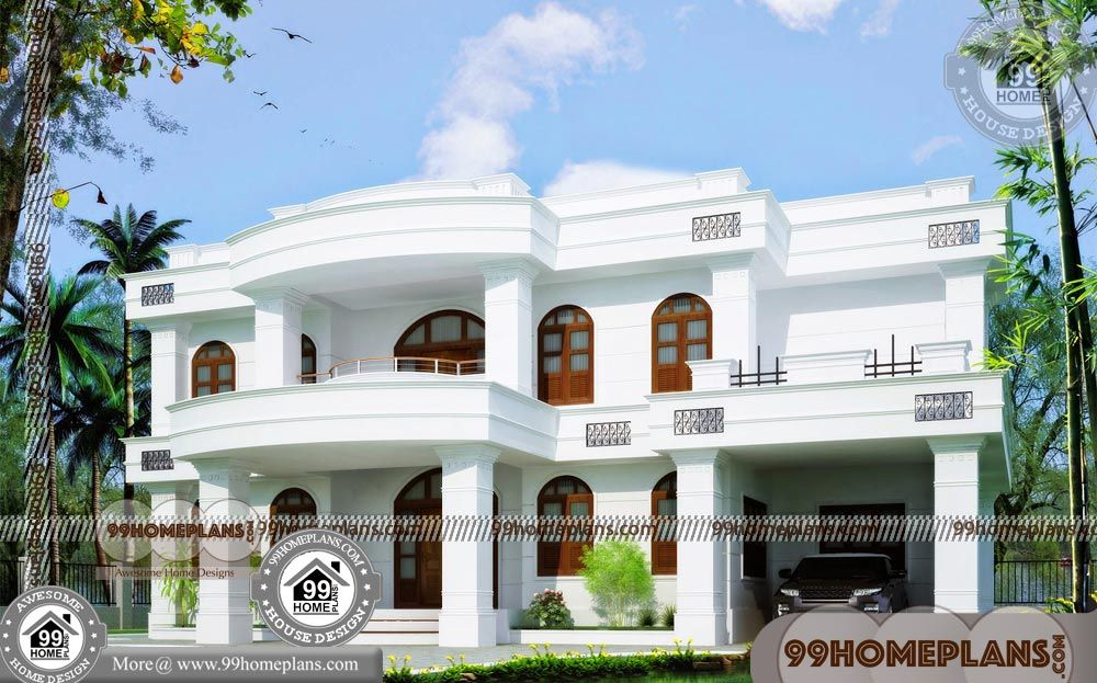 Small Home Floor Plan Ideas 90 Two Story House With Balcony Designs House With Balcony Kerala House Design House Porch Design