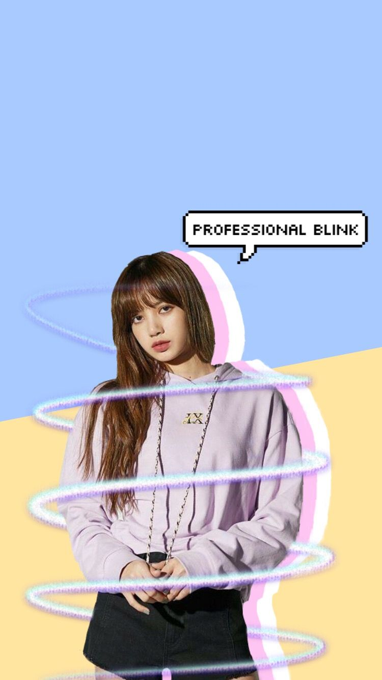 Lisa Blackpink Pastel Lockscreen And Homescreen Wallpaper