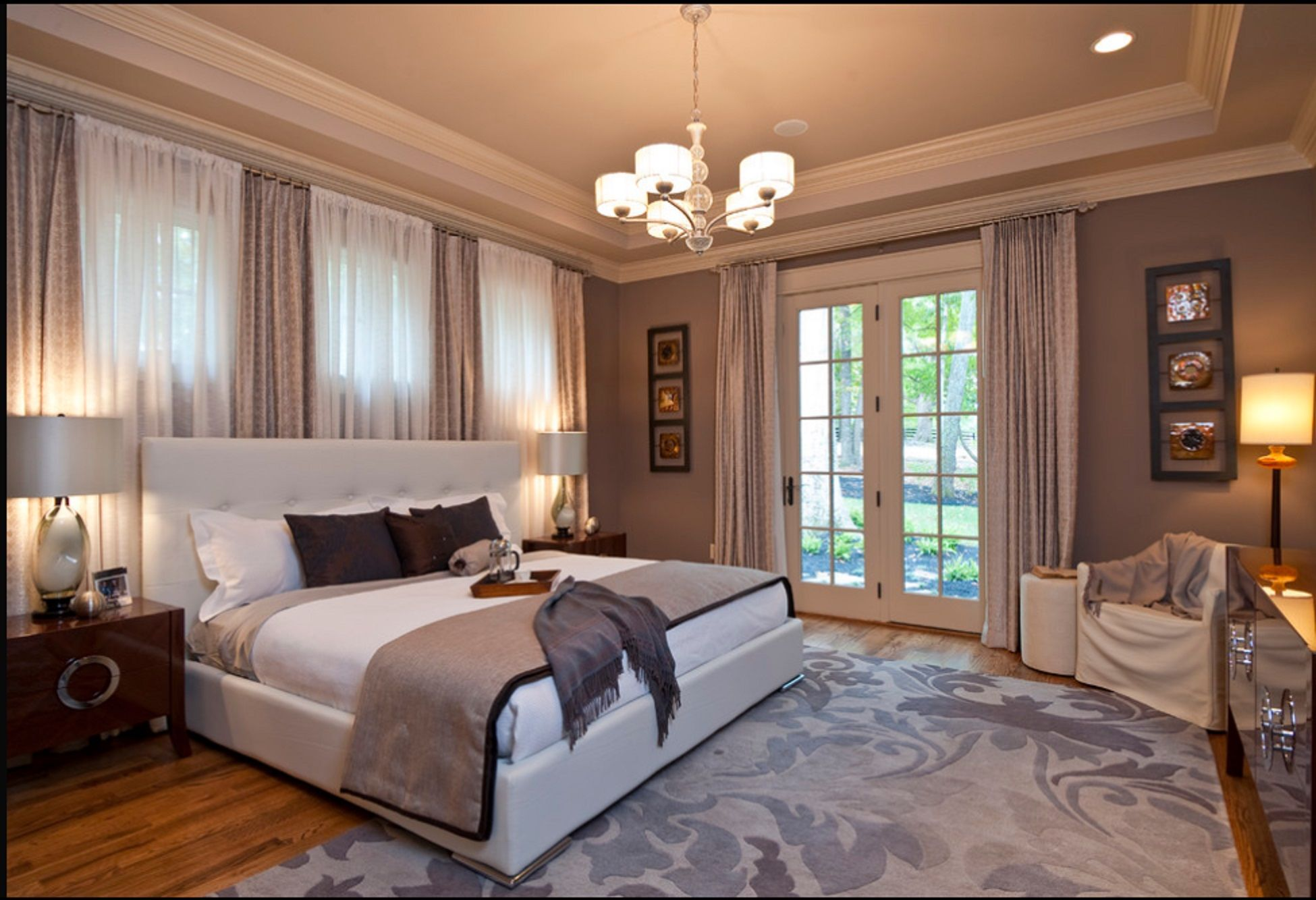 Houzz Com Windows Above Bed And French Doors Elegant Master