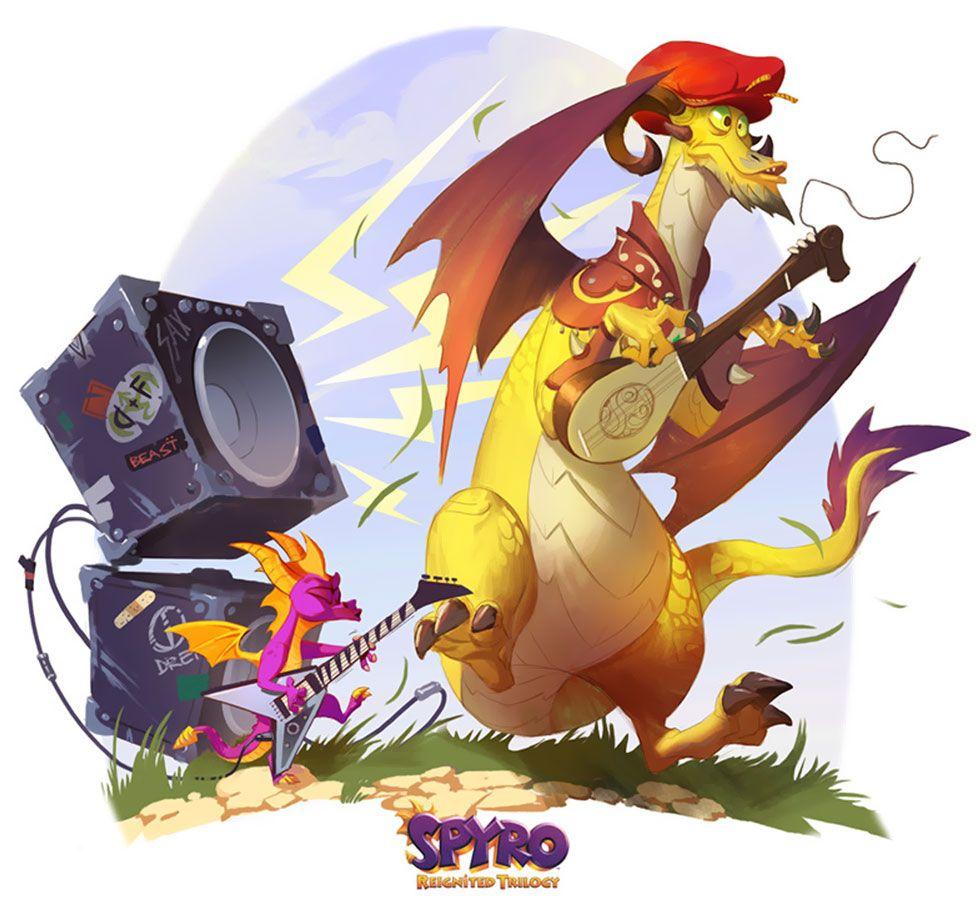 Spyro Reignited Trilogy Dragon Concept Art
