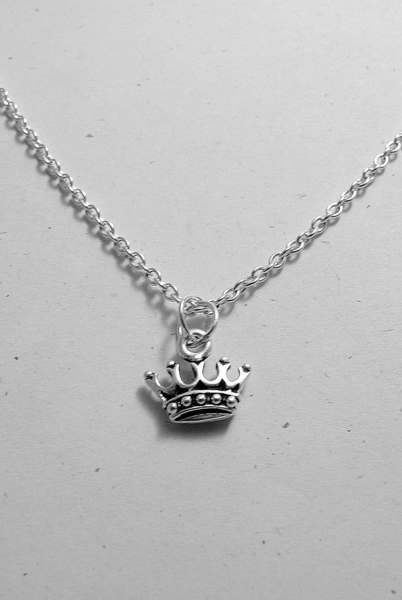 Silver Plated Crown Necklace