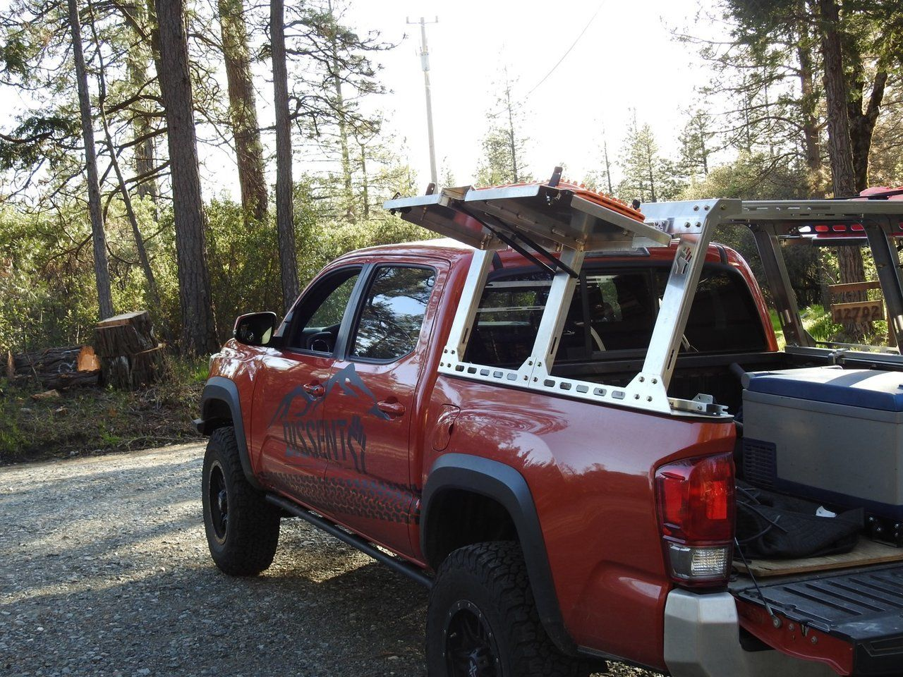 Dissent offroad aluminum rack system Hot rods cars