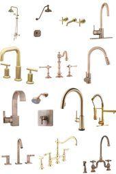 Photo of Ein ernsthaft umfangreicher Einkaufsführer mit Küchen- und Badezimmerarmaturen aus Gold, Kupfer und Bronze, …