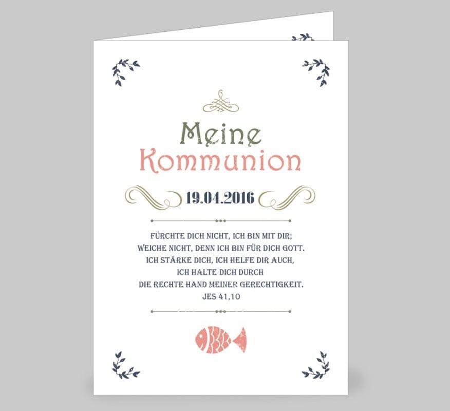 einladungen erstkommunion vintage | online drucken, vintage stil, Einladung