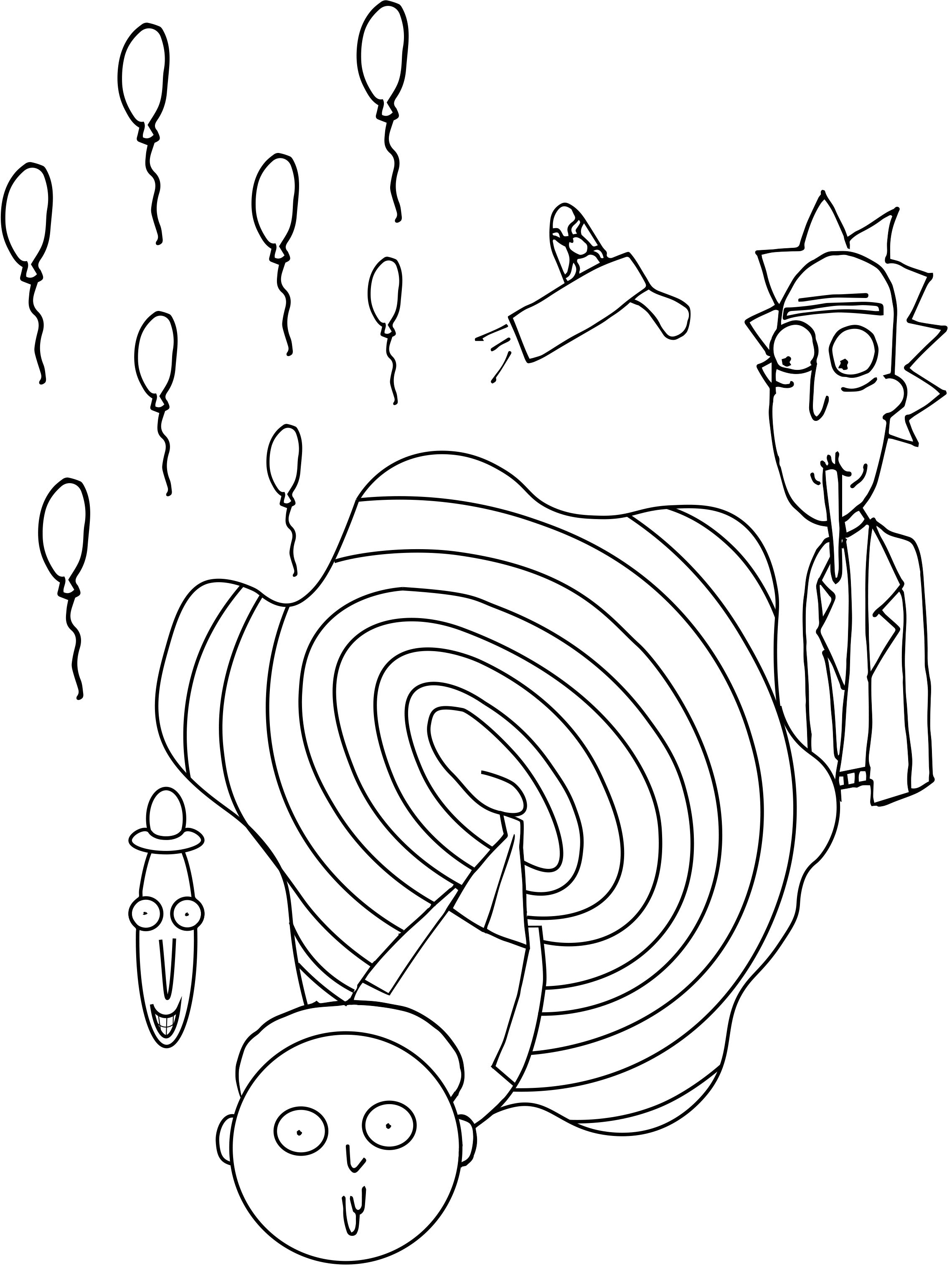 Coloring Page Inspired By Rick And Morty