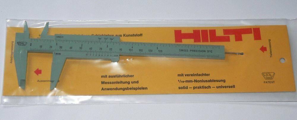 Hilti Plastic Caliper Gray Manual Swiss Precision Gauge Tool New Pav Vaduz Hilti Calipers Metal Working Precision