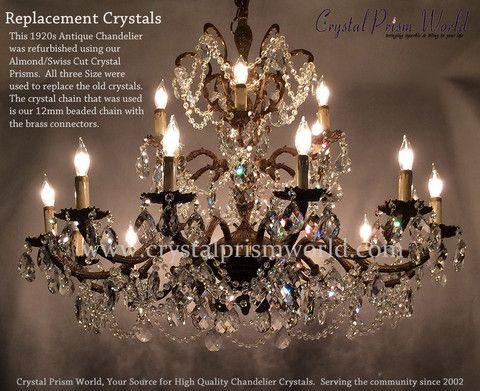 Diamond swiss 325 item d1570 chandelier makeover chandeliers chandelier makeover mozeypictures Choice Image