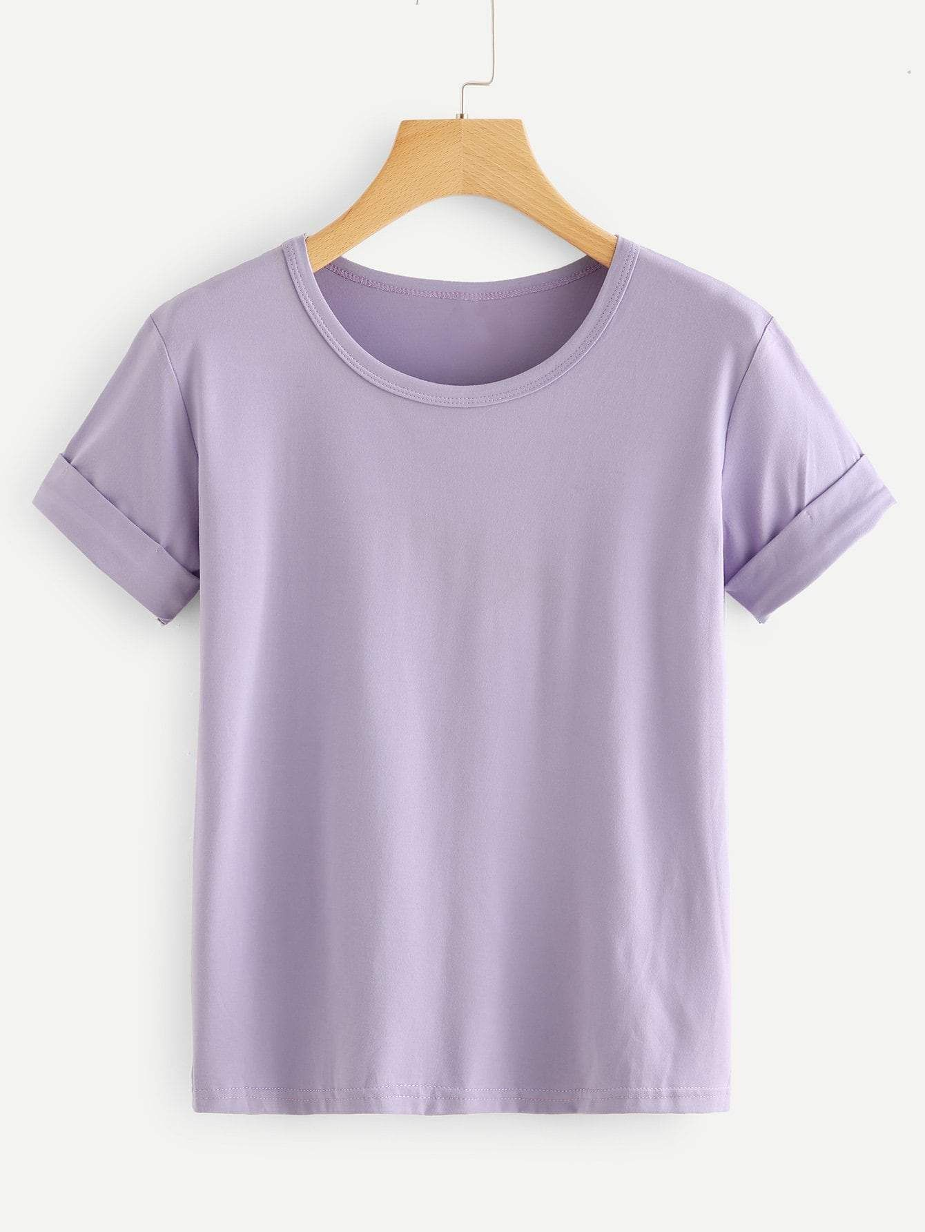 Black rolled sleeve basic tshirt in 2020 how to roll
