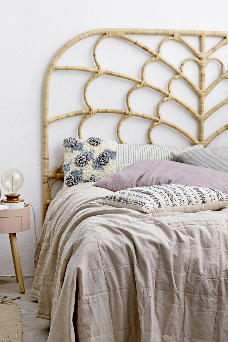 Une tête de lit en rotin, Bloomingville - Marie Claire ...