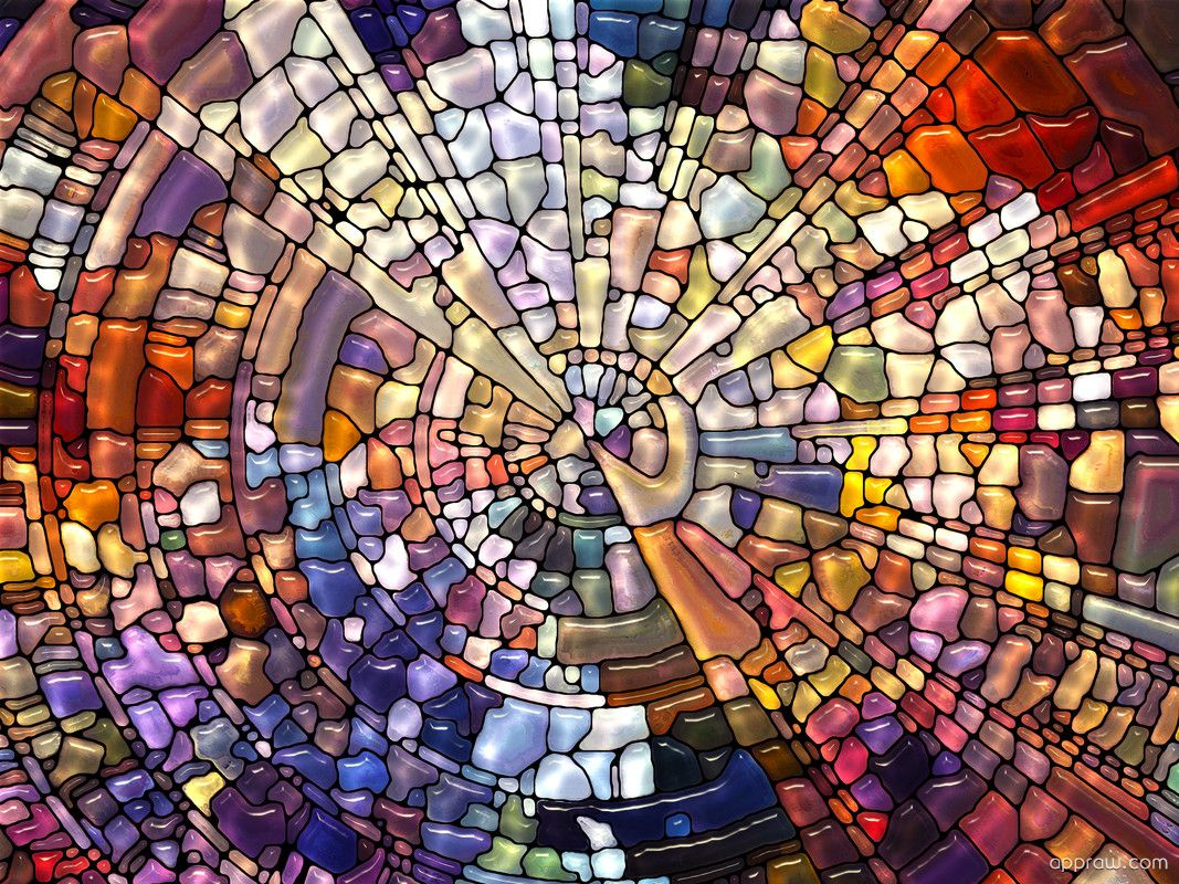 Medium Of Stained Glass Wallpaper