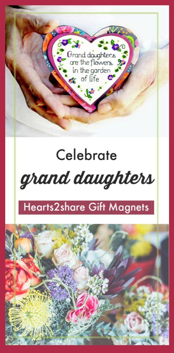 Gift For Granddaughters Heart Magnet Granddaughter Heart