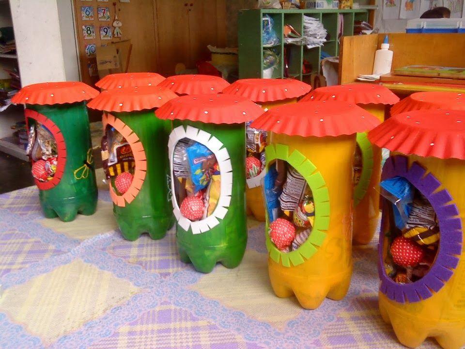 Mis manualidades cotillones realizado con material for Reciclaje manualidades decoracion