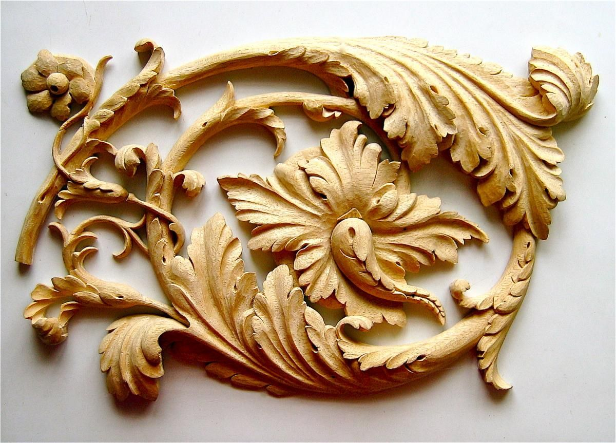 Wood Carved Of Renaissance Acanthus Scroll   Hand Carved By Agrell  Architectural Carving