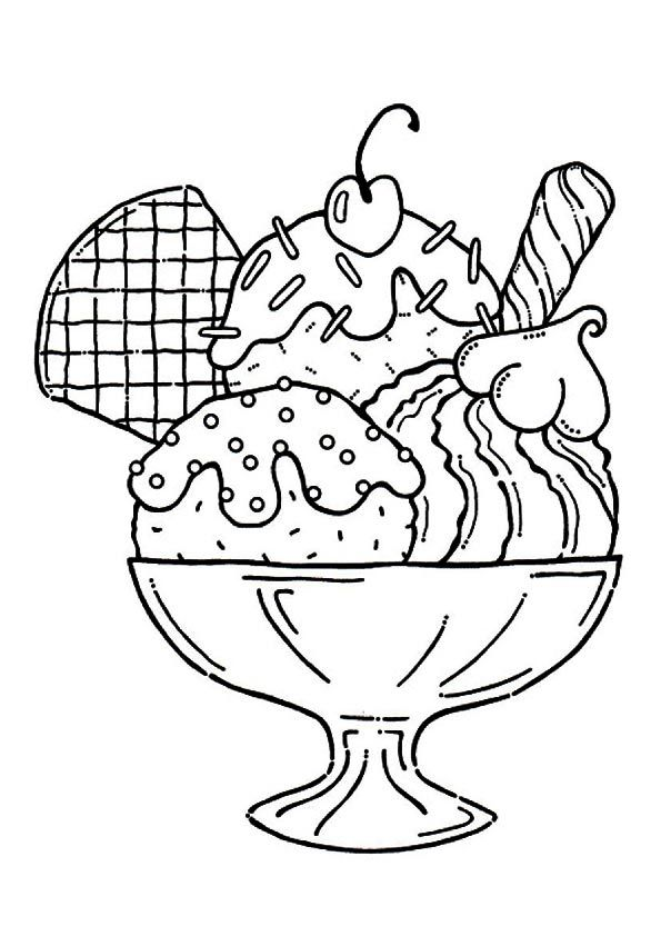 print coloring image | Yummy ice cream, Embroidery and Adult coloring