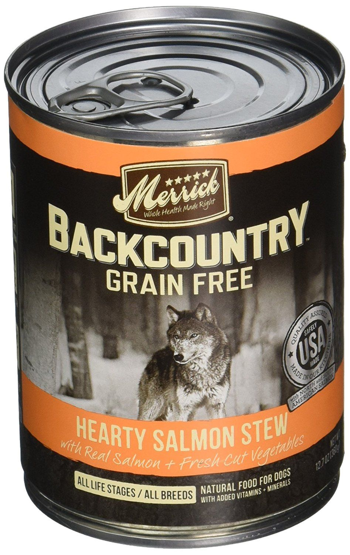 Merrick backcountry hearty salmon stew 127 oz 12 ct