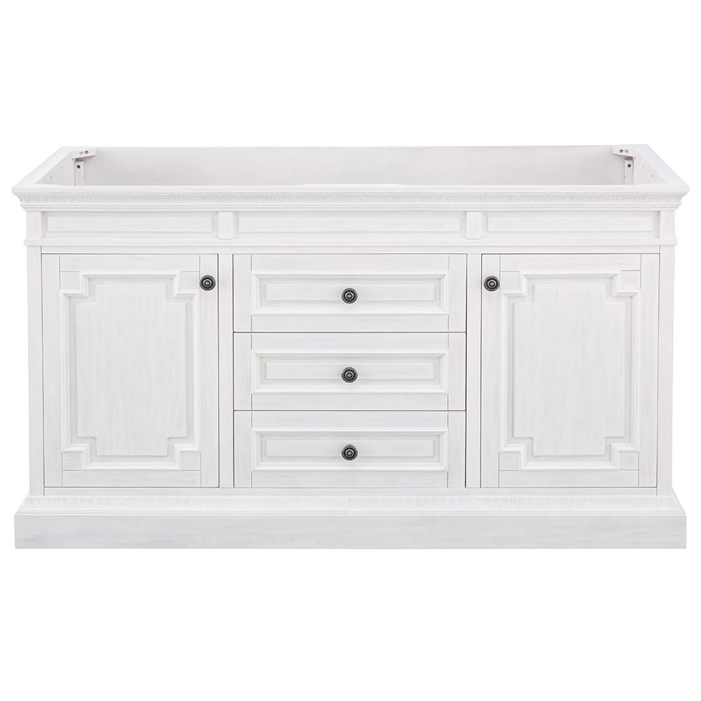 Home Decorators Collection Cailla 60 In W X 21 50 In D Bath Vanity Cabinet Only In White Wash Ckwv6022d The Home Depot Vanity Cabinet Home Decorators Collection Bath Vanities