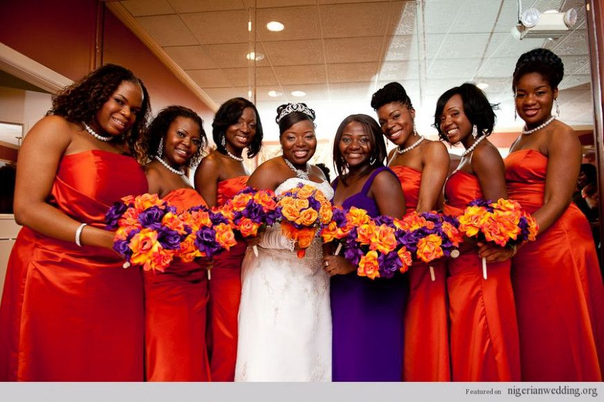 Fall Wedding Bridesmaids Burnt Orange Orange Bridesmaid Dresses