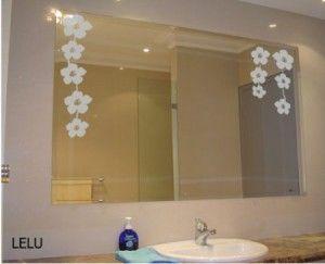 Decoraci n en espejos vinilos decorativos pinterest for Espejos decorativos sin marco