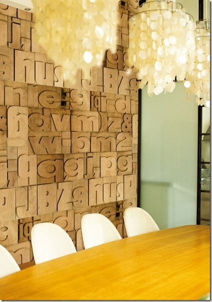 wood feature wall letters I could spell out a favorite poem? | Walls ...