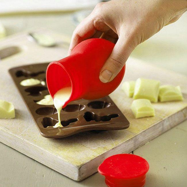 Silicone Chocolate Melting Pot Melt Butter Heat Milk Pourer Jug Kitchen Tool