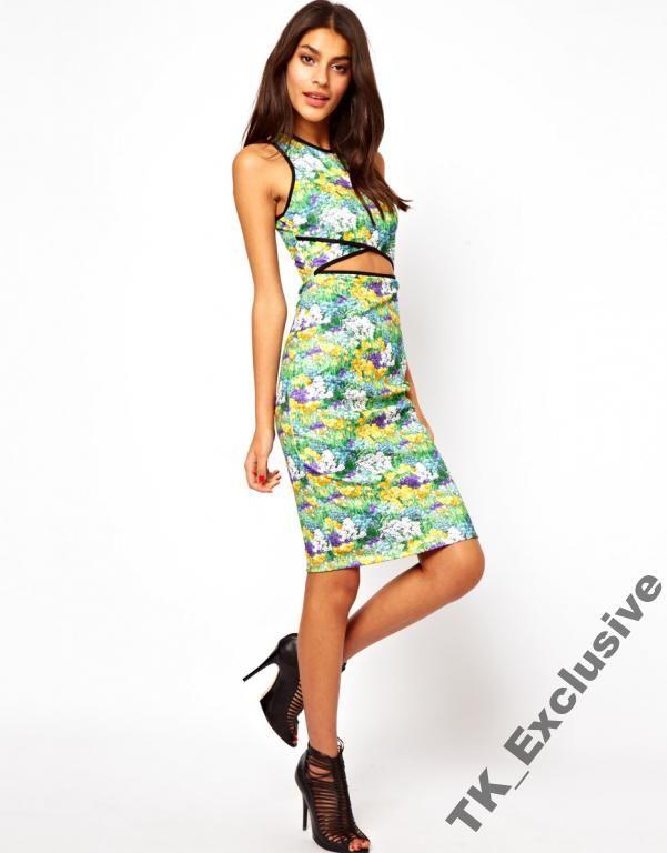 Asos Sukienka Midi Wyciecia Laka Kwiaty Rozmiary 3292525577 Oficjalne Archiwum Allegro Dresses Maxi Dress Prom Maxi Dress Party